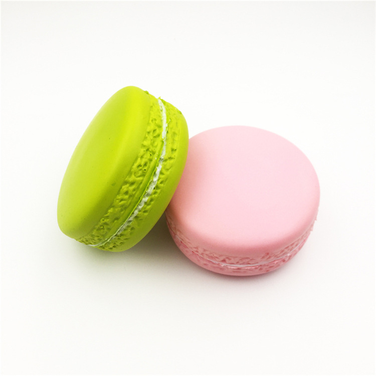 High Quality Soft Slow Rising Mini Cake Macaron Keychain Kids Squishy Toys With Good Smell