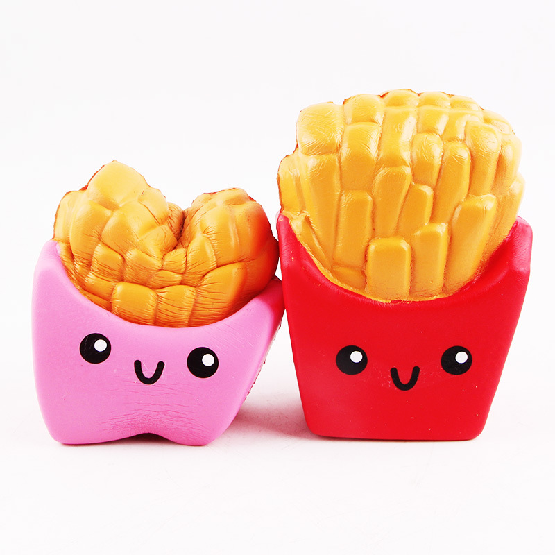 Factory Wholesale Squishy Toys Soft Slow Rising Jumbo Kawaii French Fry Squishy