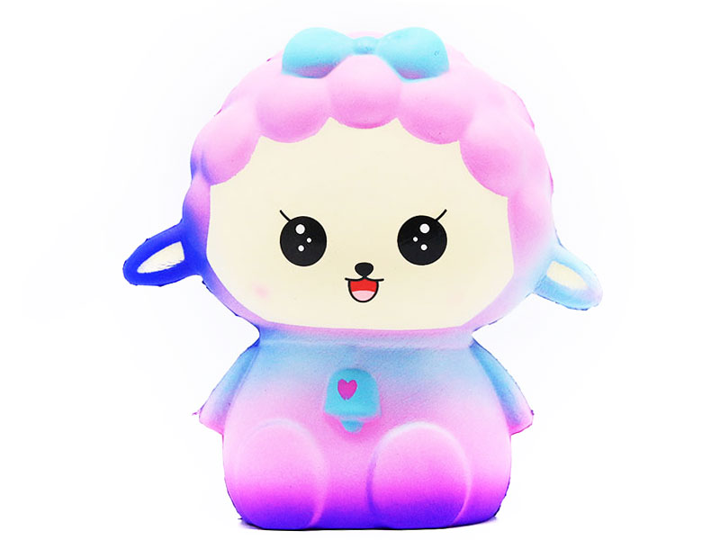 FL-NA Kawaii Colored sheep Squishy PU Slow Rising Squishies Toy